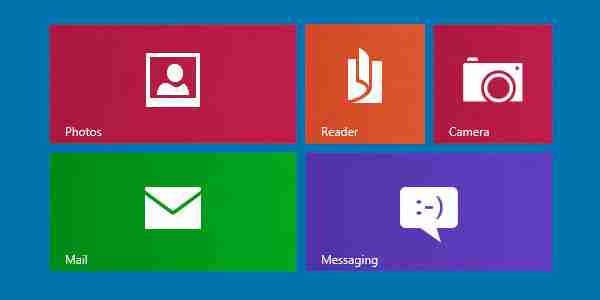 Flat design windows 8